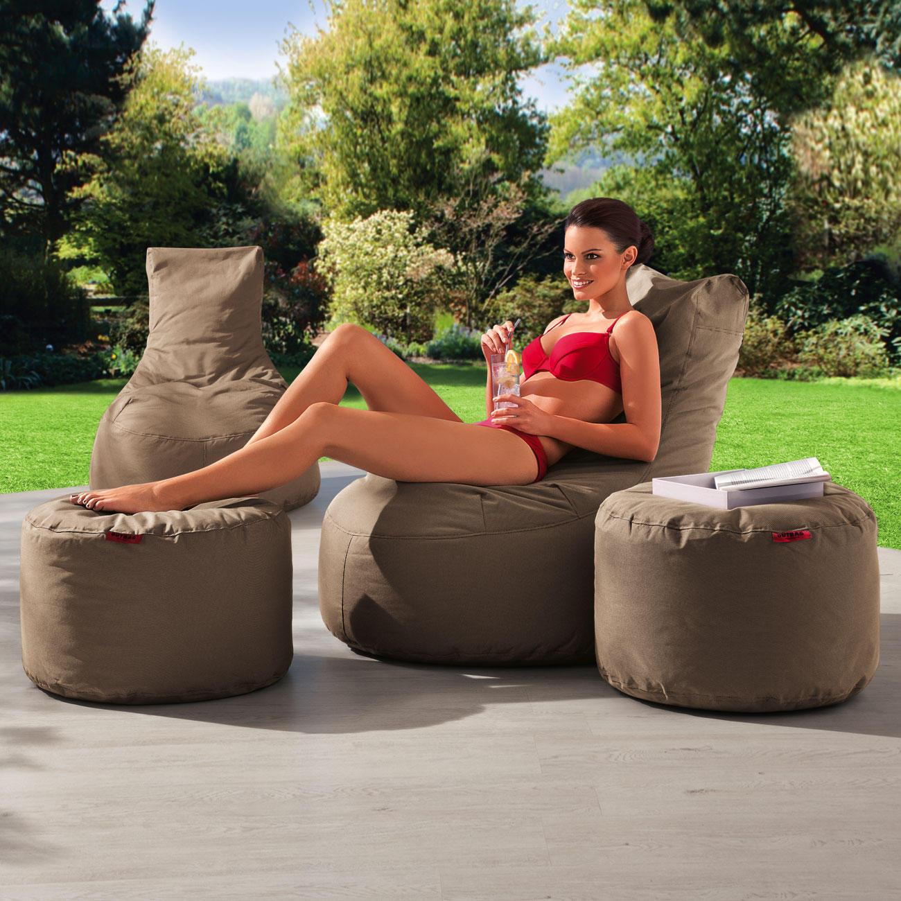 Outbag rock outdoor rundhocker mit 3 jahren garantie for Sessel outdoor