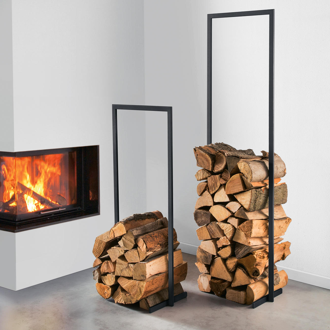 kaminholzstapler woodtower | 3 jahre garantie | pro-idee, Wohnzimmer