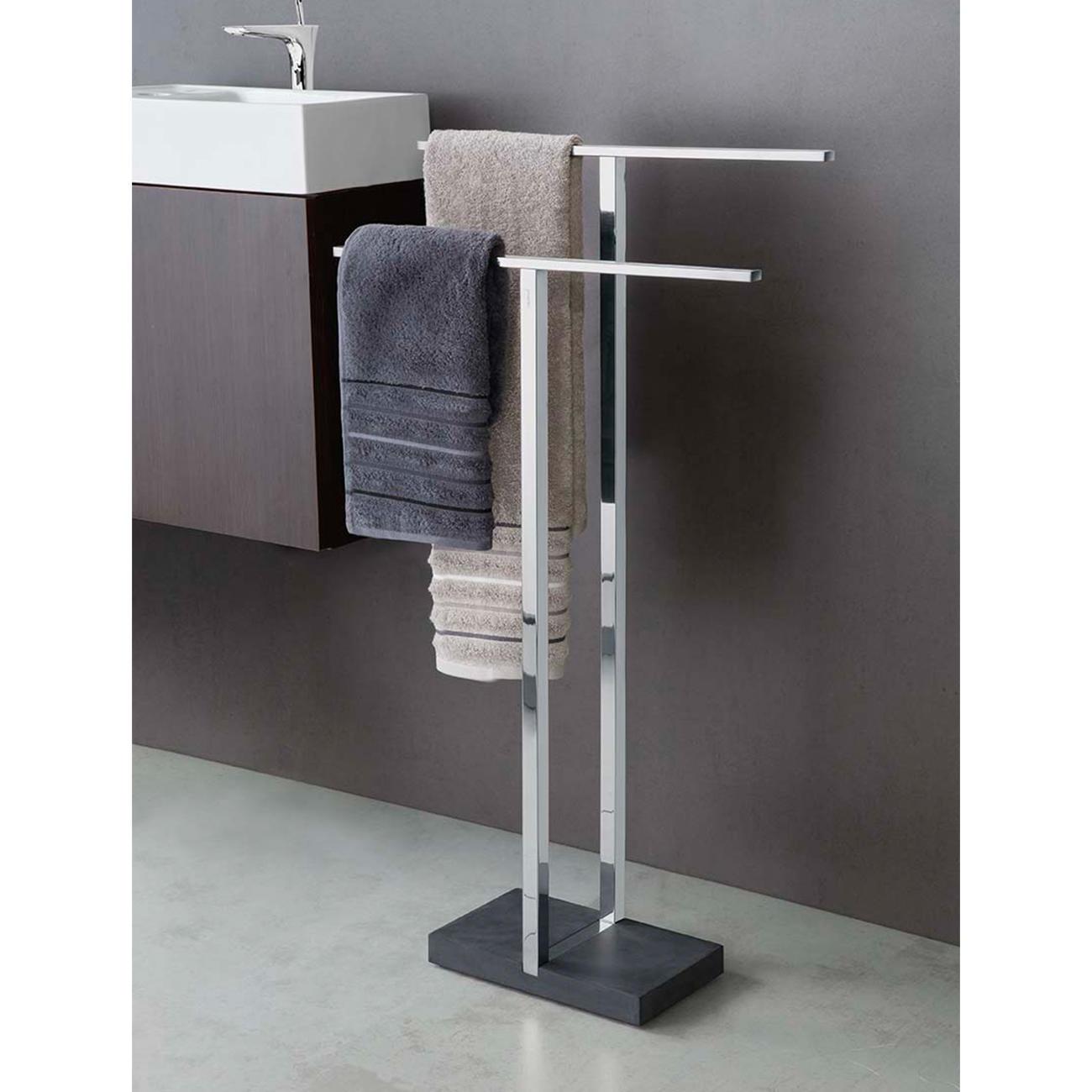 Blomus handtuchhalter menoto edelstahl poliert polystone for Bad wc design