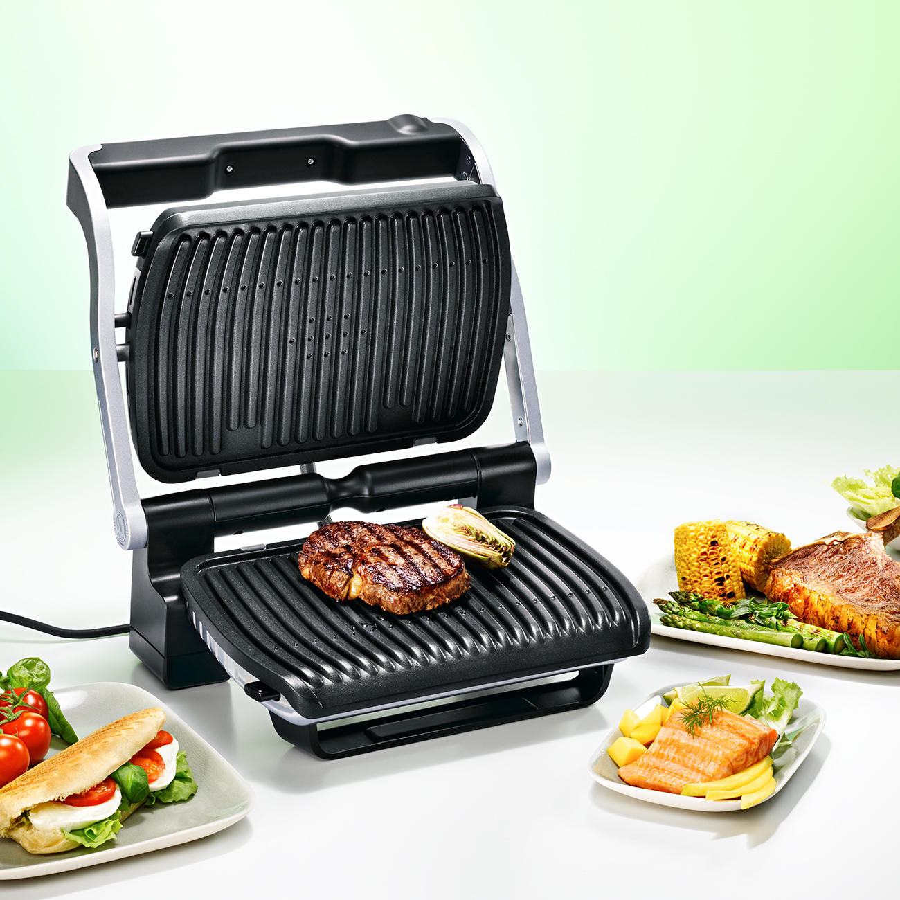 tefal optigrill gc 702d grill elektrisch kaufen. Black Bedroom Furniture Sets. Home Design Ideas