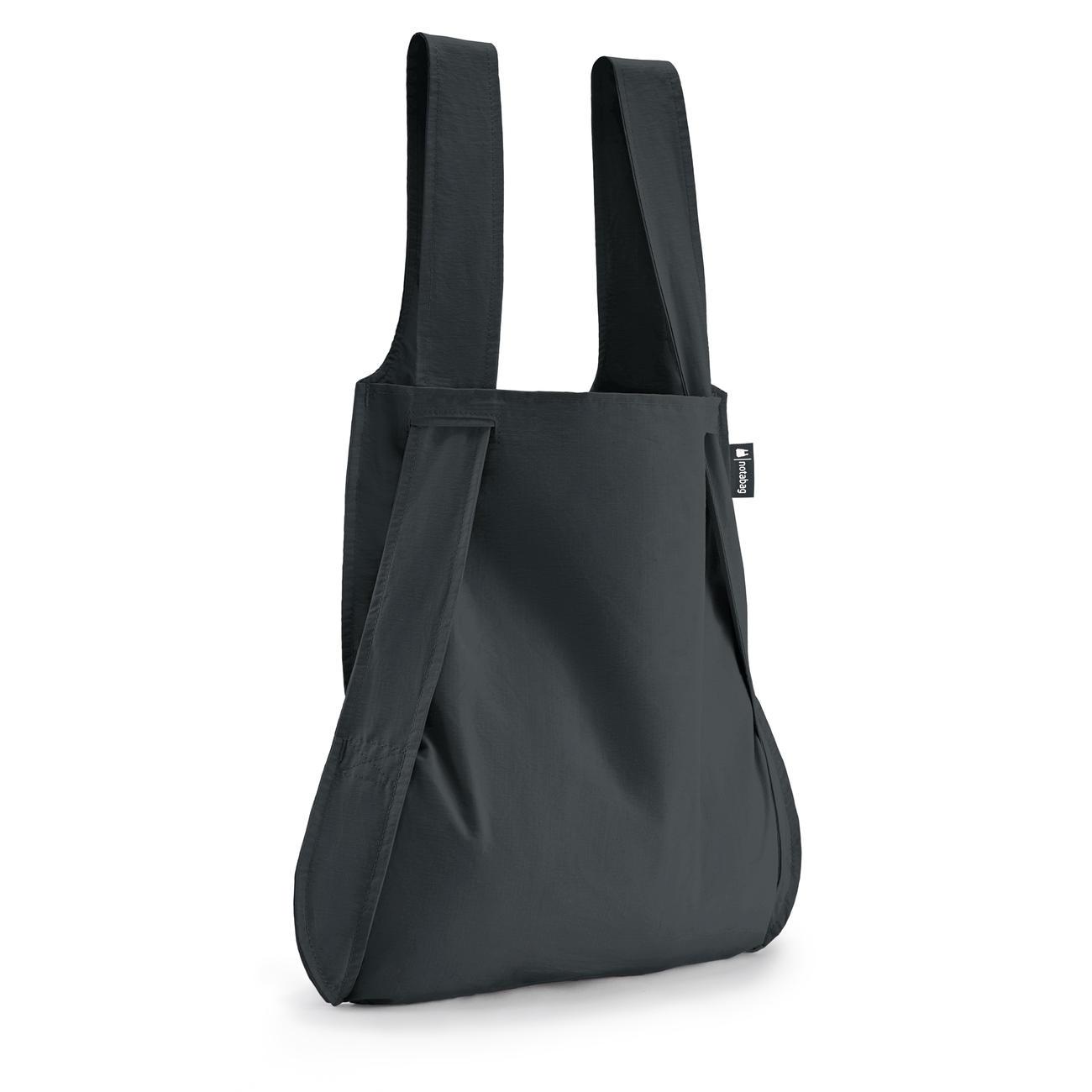 notabag tasche und rucksack in einem zusammenfaltbar schwarz. Black Bedroom Furniture Sets. Home Design Ideas