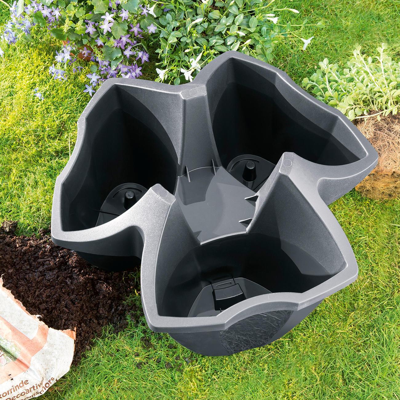pflanzturm 3 st ckig 3 jahre garantie pro idee. Black Bedroom Furniture Sets. Home Design Ideas