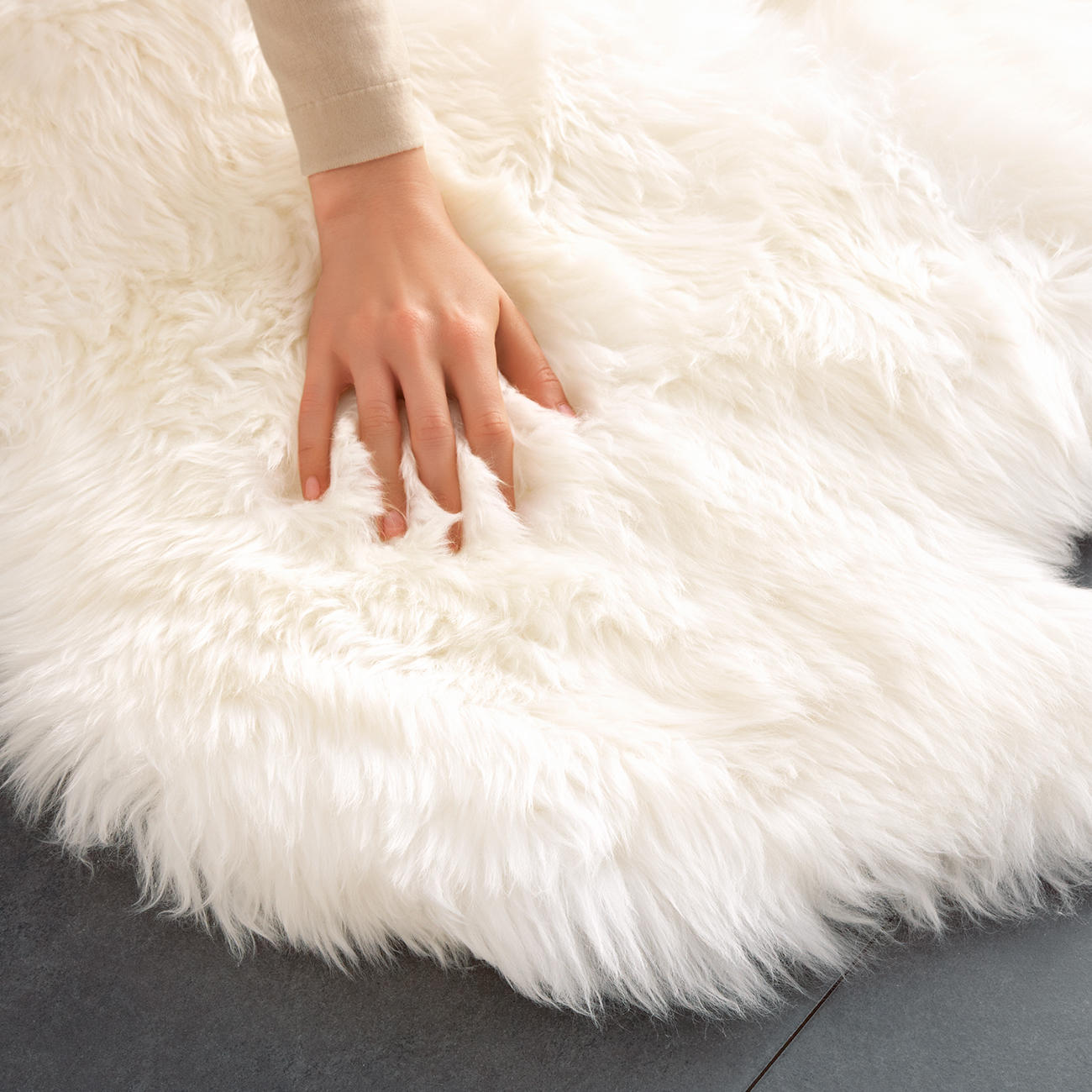 lammfell teppich 160 x 100 cm gross und sogar. Black Bedroom Furniture Sets. Home Design Ideas
