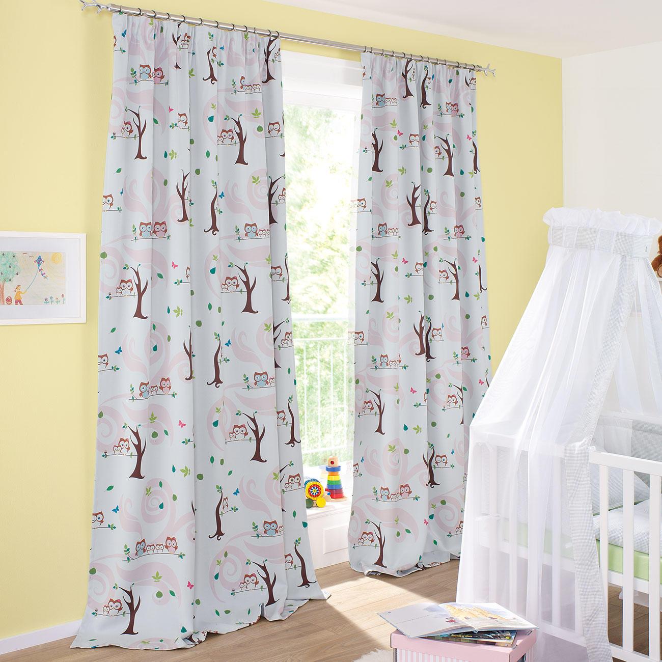 vorhang little owls 1 st ck vorh nge online kaufen. Black Bedroom Furniture Sets. Home Design Ideas