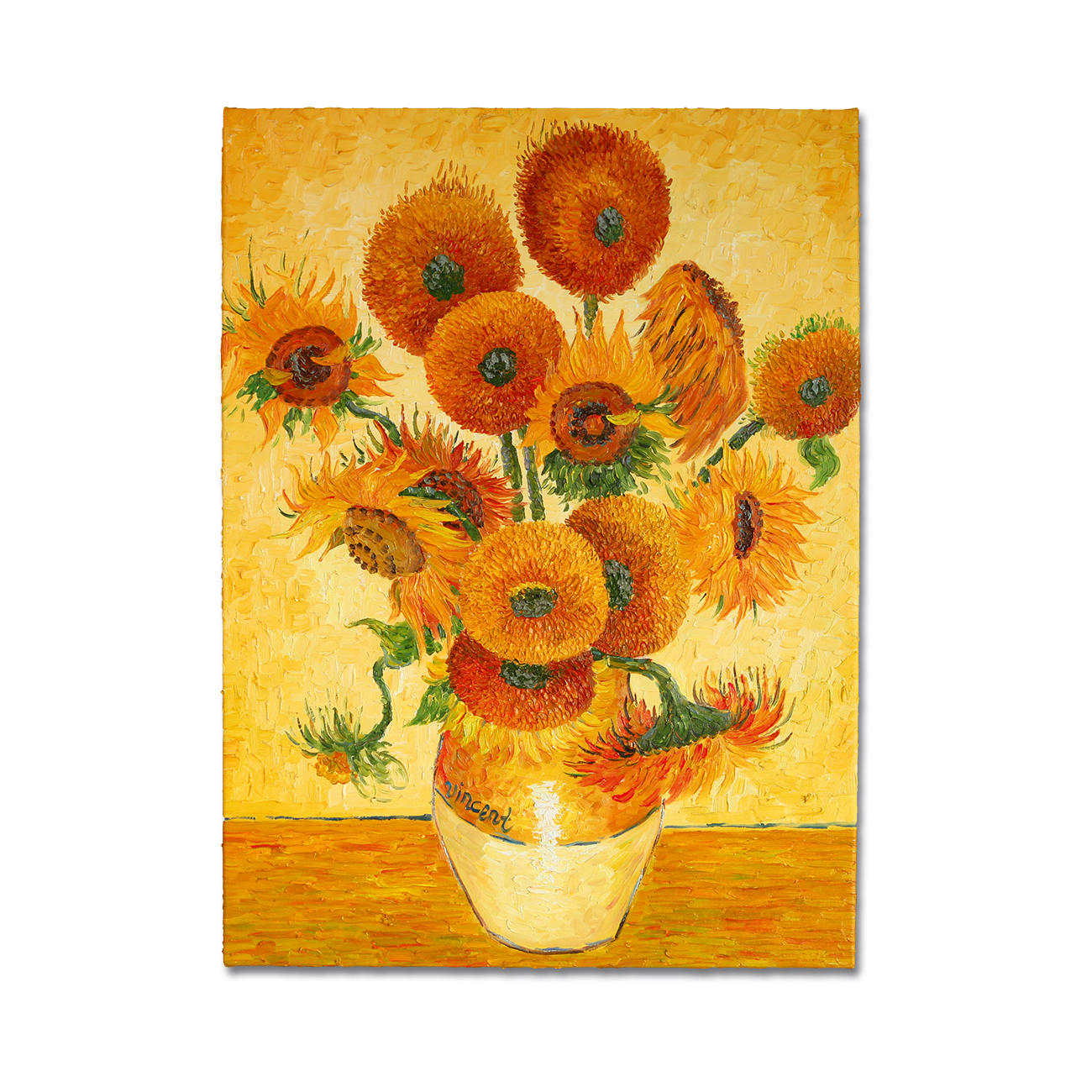zhao xiaoyong malt vincent van gogh 15 sonnenblumen in einer vase. Black Bedroom Furniture Sets. Home Design Ideas