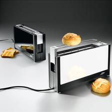Design-Langschlitz-Toaster - Schlank, stylish, edel: der vermutlich flachste Toaster der Welt.