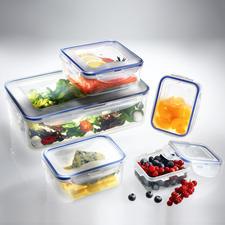 """""""Lock & Lock""""-Frischhaltedosen oder -Boroseal, 5er-Set - Schützen Vitamine und Inhaltsstoffe vor Bakterien und Keimen. Mit patentiertem Sicherheitsverschluss."""