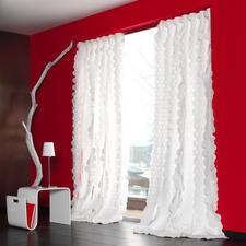 """Vorhang """"Rixa"""", 1 Vorhang - So spektakulär kann pures Weiss sein. Das Highlight der neuen """"White Passion""""-Kollektion von JAB Anstoetz."""
