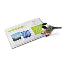 birdsticker®, 10er-Set - Lebensrettend für Vögel. Für das menschliche Auge praktisch unsichtbar.