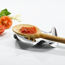 Design-Kochlöffelhalter - Die wohl schönste und funktionellste Ablage für Kochlöffel & Co. Von Alessi. Perfekt durchdacht und elegant designt.