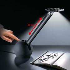 """Federstahl-LED-Leuchte """"Kiu"""" - Für Technik- und Design-Fans: Coole Tischleuchte mit Aufroll-Arm aus Federstahl."""