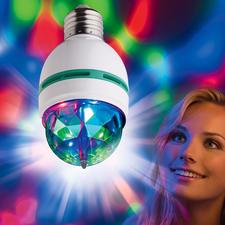 Club Light 2 go - Rotierende Lichteffekte wie in coolen Clubs. Passend für jede E27-Fassung.
