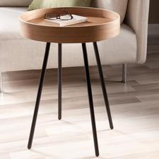 Tablett-Tisch - Mobiler Beistelltisch & zugleich praktisches Serviertablett. Betont schlichtes Design,aussergewöhnlich gemasert.