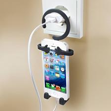 """Smartphonehalter """"Butler-Man"""" - Hält jedes Modell. Und lässt sich überall aufhängen."""
