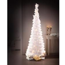Zauberhafter LED-Federbaum - Herrlich romantisch: der Weihnachtsbaum aus schneeweissen Federn.