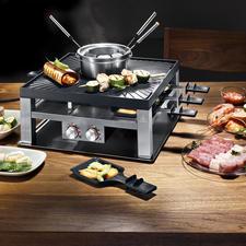 Design-Raclette-/Fondueset - Vielseitiger, sicherer und schöner: Fondue, Raclette und Tischgrill in einem.