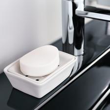 Porzellan-Seifenschale - Gute Neuigkeiten für Ihre edelsten Feinseifen. Dank Doppelschale lagern sie hygienisch trocken & leben länger.