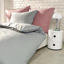 Leinenlook Mikrofaser-Bettwäsche - Seidig glatt und weich. Guter Feuchtigkeitstransport. Formbeständig und bügelfrei.
