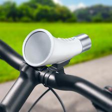 Bluetooth-Speaker fürs Fahrrad - Kleines Soundwunder auf dem Bike. Gleichzeitig Freisprecher und Lampe.