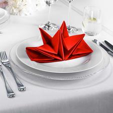Statt oft nur 33 x 33 cm sind diese Origami-Servietten üppige 60 x 40 cm gross.
