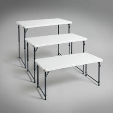 Dreifach höhenverstellbar - ideal als Buffet- und Beistelltisch, Ess- und Arbeitstisch, Spieltisch für die Kleinen, …