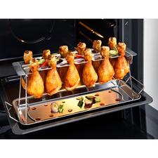 Chicken Leg Roaster, 2-teilig - Perfekt gegrillte Hähnchenschenkel: ohne lästiges Wenden. Ohne Anhaften. Ideal auch für Chicken Wings. Und für den Backofen.