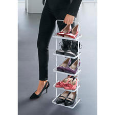 Ganz bequem transportieren Sie Sneaker, Schnürer, Slipper, Pumps und Herrenschuhe ... Ihre Schuhe werden stabil gehalten, ohne herabzufallen.