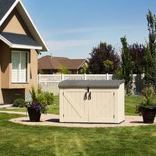 Grossraum-Mülltonnenbox - Der elegante Platz für 3 grosse Mülltonnen. Oder Fahrräder, Gartengeräte, Poolzubehör, ...