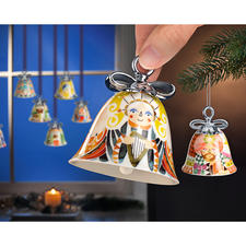 Alessi Weihnachtsglocken - Läuten stilvoll die Festtage ein: Alessis Weihnachtsglocken aus feinstem Porzellan.