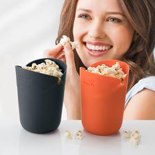 Mikrowellen-Popcornbox, 2er-Set - Selbstgemachtes Popcorn, köstlich knusprig wie im Kino. Schnell und energiesparend aus der Mikrowelle.