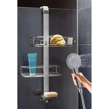 Variabler Duschcaddy - Cleveres Design passt sich Ihren Duschutensilien individuell an.