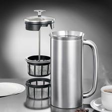 Doppeltes Mikrofilter-System für den reinen Kaffeegenuss.