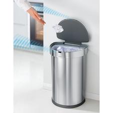 Sensor-Abfalleimer ST2009 - Präzise Multi-Sensor-Steuerung öffnet und schliesst den eleganten Abfallsammler exakt nach Bedarf. Nahezu lautlos, sauber, bequem.
