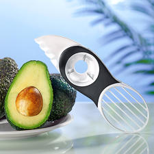 3-in-1-Avocadoschneider - Avocados teilen, entkernen, auslösen, schneiden, ... Alles mit dem einen perfekten Tool.