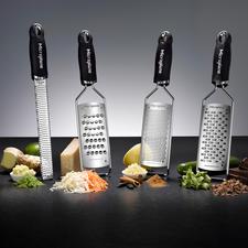 Microplane®-Küchenreiben - Messerscharfe photochemisch geätzte Klingen: schneiden präzise und hauchfein statt zu reissen.