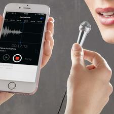Smartphone-Mini-Mikrofon - Das ultimative Gadget für alle Internetblogger und Karaoke-Stars.