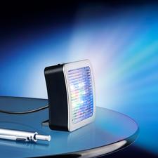 TV-Simulator Safe@Home 2.0 - Jetzt noch besser: Mit extrahellen LEDs und 4 (statt 3) verschiedenen Lichtmodi. Und Nachtlicht. Und verstellbarem Standfuss ...