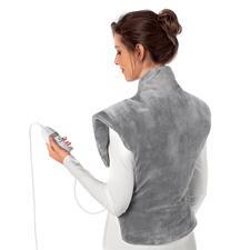 Heiz- und Massagekissen - Wärmt von der Hüfte bis hoch in den Nacken und schmiegt sich perfekt um die Schultern.