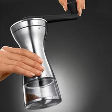 18-Stufen-Hand-Kaffeemühle - Genau der richtige Mahlgrad für French Press, Espressokocher, Filtermaschine, türkischen Mokka, ...