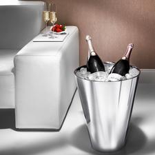 Champagnerkühler - Im Magnum-Format, aus doppelwandigem Edelstahl. Hält sogar zwei Magnumflaschen eisgekühlt.