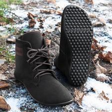 Barfuss-leguano® Schnür-Boots - Gesund und entspannend wie Barfusslaufen – jetzt winterwarm und city-chic.