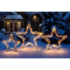 Etoile lumineuse LED - Etoiles décoratives éclairées par une myriade de points lumineux.