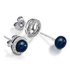 Schwarz/Blaue Perle