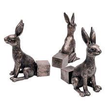 Potty Feet, 3er-Set - Dekorative Hasenfiguren sorgen für mehr Freiraum unter Ihren Pflanztöpfen.