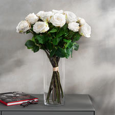 Rosenstrauss Avalanche - Unvergängliche Schönheit: das Bouquet de luxe mit 22 üppigen, weissen Avalanche-Rosen.