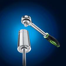 Geeignet für praktisch alle Formen von Haken, Muttern und Schrauben von 7 – 19 mm Ø.