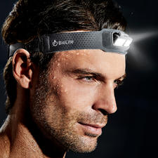 Ultraleicht-LED-Stirnlampe - 69 g leicht. 9 mm flach. Und bequem wie ein normales Stirnband.
