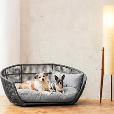 Design-Hundebett - Indoor und Outdoor. Komfortabel gepolstert. Wasser- und schmutzabweisend.