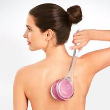 Beurer Elektro-Körperbürste - Mit Reinigungs- und Peeling-Aufsatz, 2 Rotations-Stufen und aufsteckbarem Handgriff.