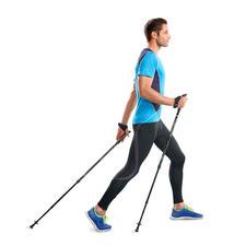 Federnde Walkingstöcke - Effektiver trainieren dank patentiertem Feder-Widerstand. Belegt durch eine Studie der Modo Sports Academy, Schweden.